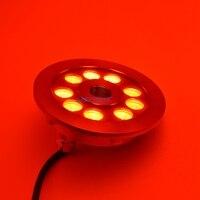 304/316 المقاوم للصدأ 27 واط rgb dmx أدى ضوء ل نافورة multicolor البركة ضوء led D149XH61MM 4 قطعة/الوحدة