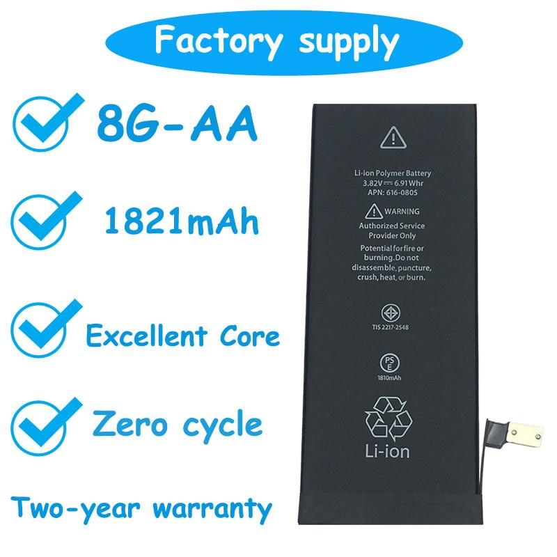 Original Da Da xiong 10 pcs/lot qualité supérieure AA zéro Cycle batterie iPhone 8 8G 1821mAh 3.7V batterie de remplacement