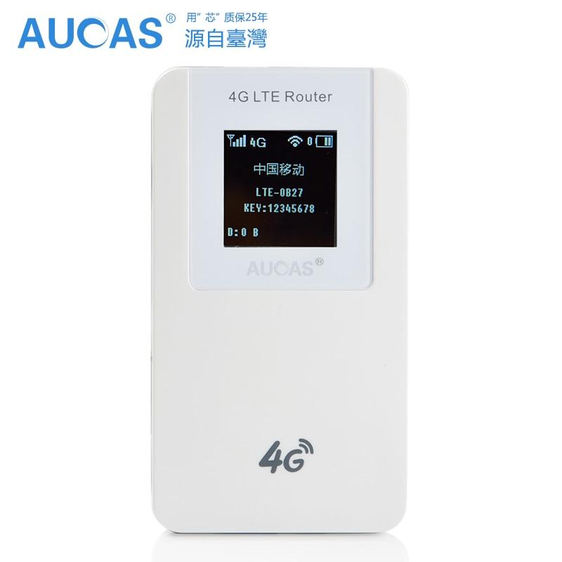 AUCAS Network 4G Роутер 4600mAh Power Bank 150 Мбит/с беспроводная WiFi sim карта Бесплатная доставка