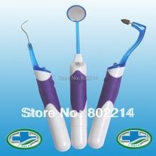 3 в 1 LitPack отбеливающий зубы Профессиональный стоматологический набор инструментов для полости рта светодиодный стоматологический зеркальный крюк палочки ластик go зубной камень стоматологическое оборудование