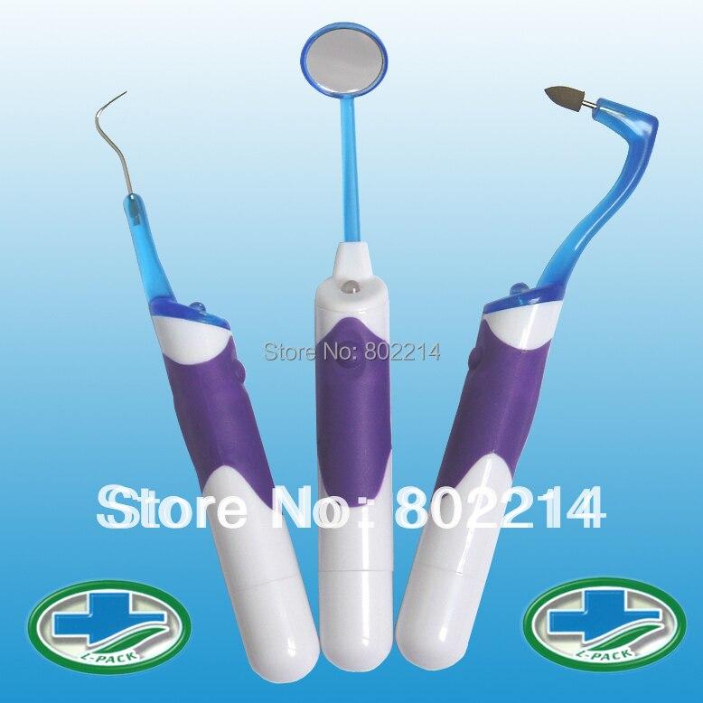 3 In 1 Litpack Zahnaufhellung Professionelle Zahnmund Werkzeug Kits Led Dental Spiegel Haken Pick Radiergummi Gehen Zahnstein Zahnarzt Ausrüstung