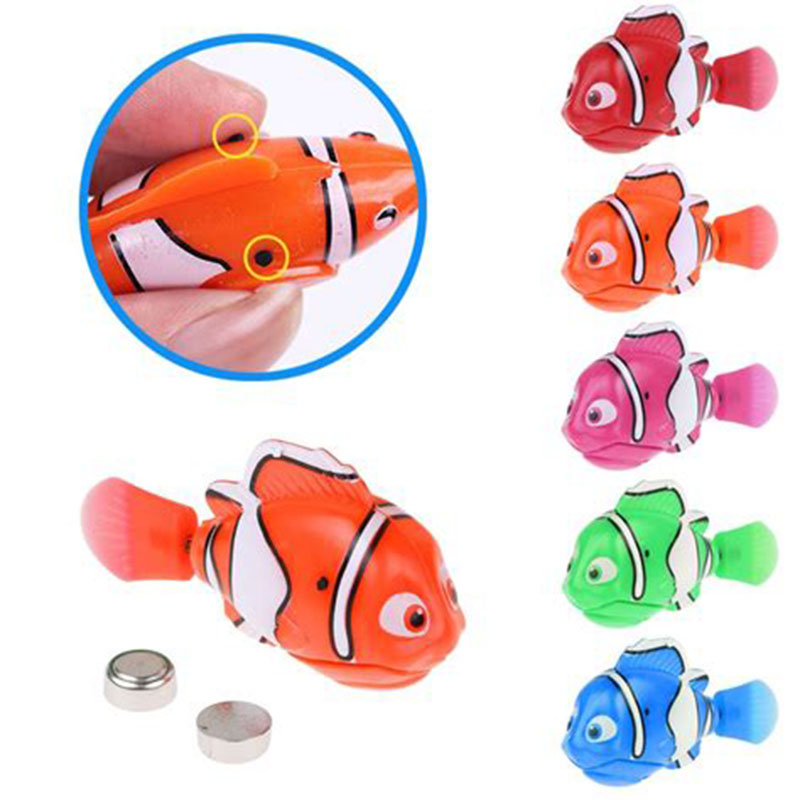 2019 New 1pc Electric Fish Bathing Shower Toy Robot Sensor Diving Fish Luminous Electric Swimming Fish Baby Classic Bath Toys