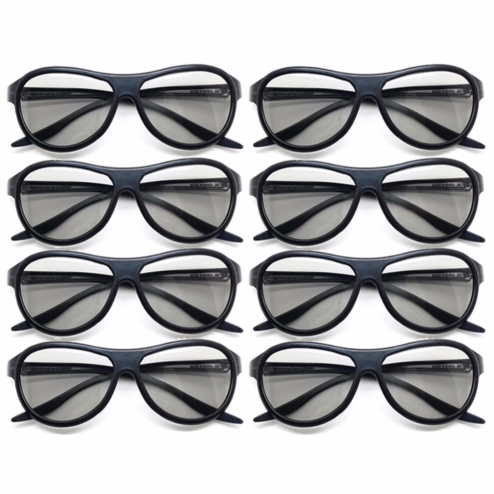 8pcs/lot Replacement AG-F310 3D Glasses Polarized Passive Glasses For LG TCL Samsung SONY Konka reald 3D Cinema TV computer