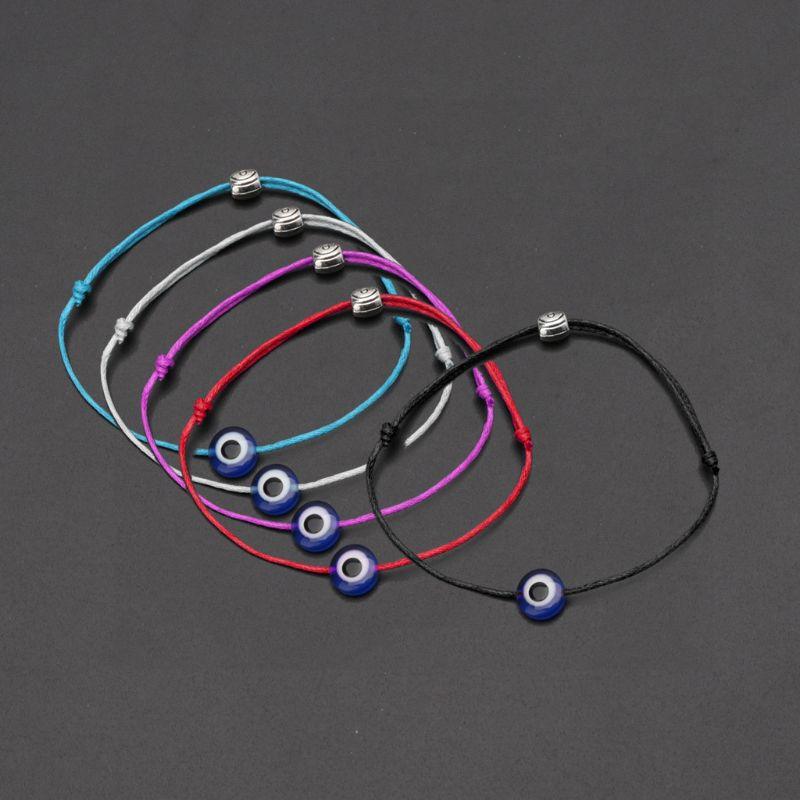 Blue Evil Eye String Kabbalah Bracelet Jewish Amulet Protection Lucky Jewelry in Charm Bracelets from Jewelry Accessories