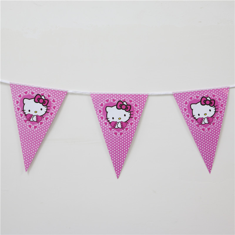 Cat Birthday Banner: Banners Hanging Banners Girls Birthday Party Decoration