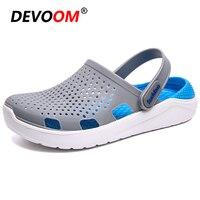 Summer Slippers Men Beach Flip Flops Integrated EVA Beach Slippers Fashion 2019 Spring Lover Aqua Water Shoes Holes Clogs Slides