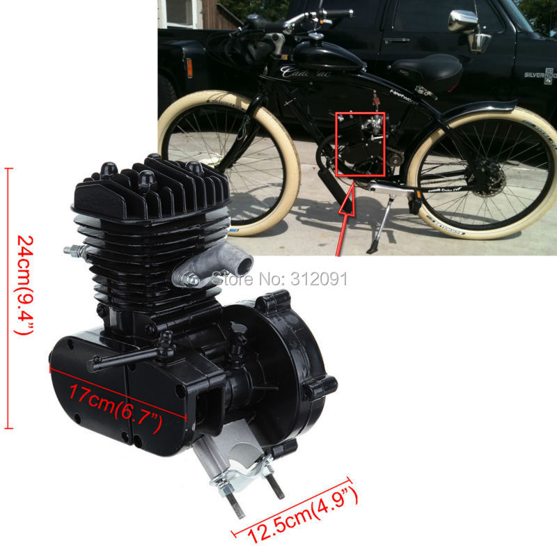 USA Domestic Shipping!  Black C80cc 2-stroke Gas Engine for 2628 Motor Motorcycle Motorized Bicycle DIY Bike Cruisers ship from usa 2 stroke petrol gas bike engine diy bike bicycle motorize engine motor kit 26 or 28