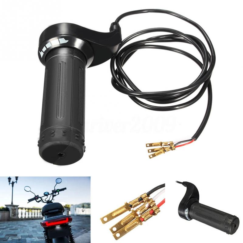 24V 36V 48V 3 Wire Twist Throttle Grip For Electric Speed Control Scooter Bike 7/8