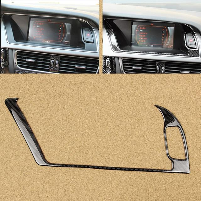 لأودي A4 B8 2009 2010 2011 2012 2013 2014 2015 2016 الكربون الألياف والملاحة لوحة شاشة تحذير ضوء الخارجي غطاء إطاري تقليم