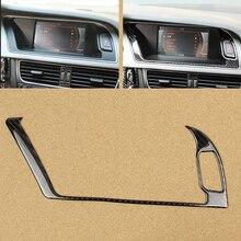 Audi için A4 B8 2009 2010 2011 2012 2013 2014 2015 2016 karbon Fiber navigasyon paneli ekran uyarı ışık dış krom çerçeve Trim