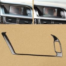 For Audi A4 B8 2009 2010 2011 2012 2013 2014 2015 2016 Carbon Fiber Navigation Panel Screen Warning Light Outer Frame Cover Trim стоимость
