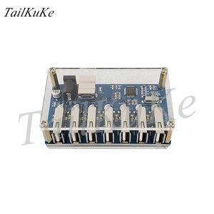 Image 4 - Usb разветвитель 1 7 портов, usb концентратор с 7 портами, usb разветвитель с блоком питания и расширением USB2.0