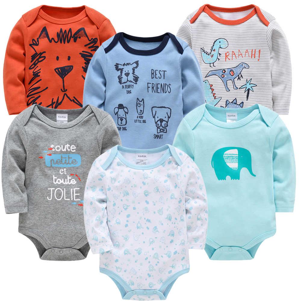 Kavkas nuevo bebé niños mono 6 piezas 3 piezas de algodón de manga larga bebé niña ropa 0-3 meses ropa de bebé recién nacido