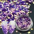 1 Botella Encanto Escamas Brillan Uñas Escamas de Pescado Lentejuelas Glitter Lentejuelas Sirena Pegatinas Manicura Nail Art Decor # TL-H