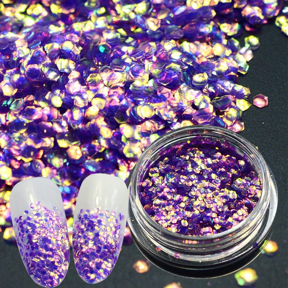 1 botella brillante Básculas uñas pescado Básculas Lentejuelas ...