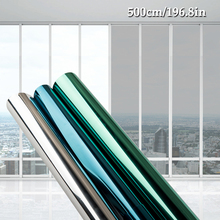 40/50/60/70/80/90 * 500 CM window film glass stickers Reflective UV  Sunscreen self adhesive mirror film heat transfer vinyl waterproof self adhesive uv high light mirror reflective film heat insulation opaque film decoration pet reflective sticker