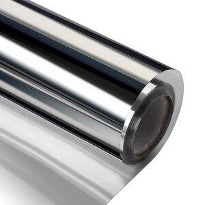 Image 4 - רוחב 60/70/80/90 cm אורך 400 cm אחד דרך שיקוף רעיוני חלון סרט, דביק פרטיות זכוכית גוון חום שליטה אנטי Uv