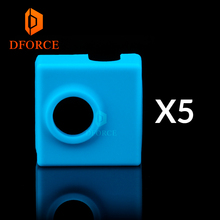 DFORCE 5pcs high quality cartridge heater bock silicone socks for MK9 heated block hotend I3 CR10 nozzle