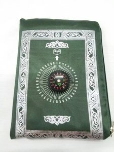 Image 1 - 24pcs/lot mix 4colors Travel muslim without compass pocket size prayer mat