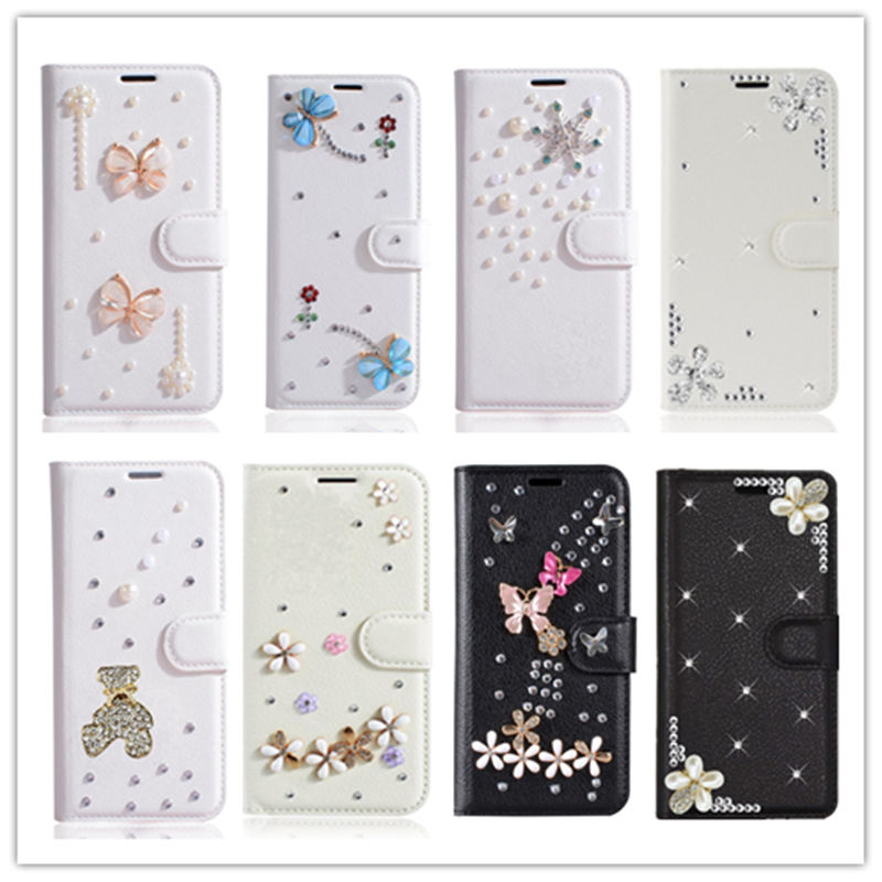 Bling Diamond Leather Case for Xiaomi Mi 5s plus 5c 5x 6X 8 se A2 lite Redmi Note 8 pro 7 6 pro 8A 7A 5a S2 Flip Wallet Cover