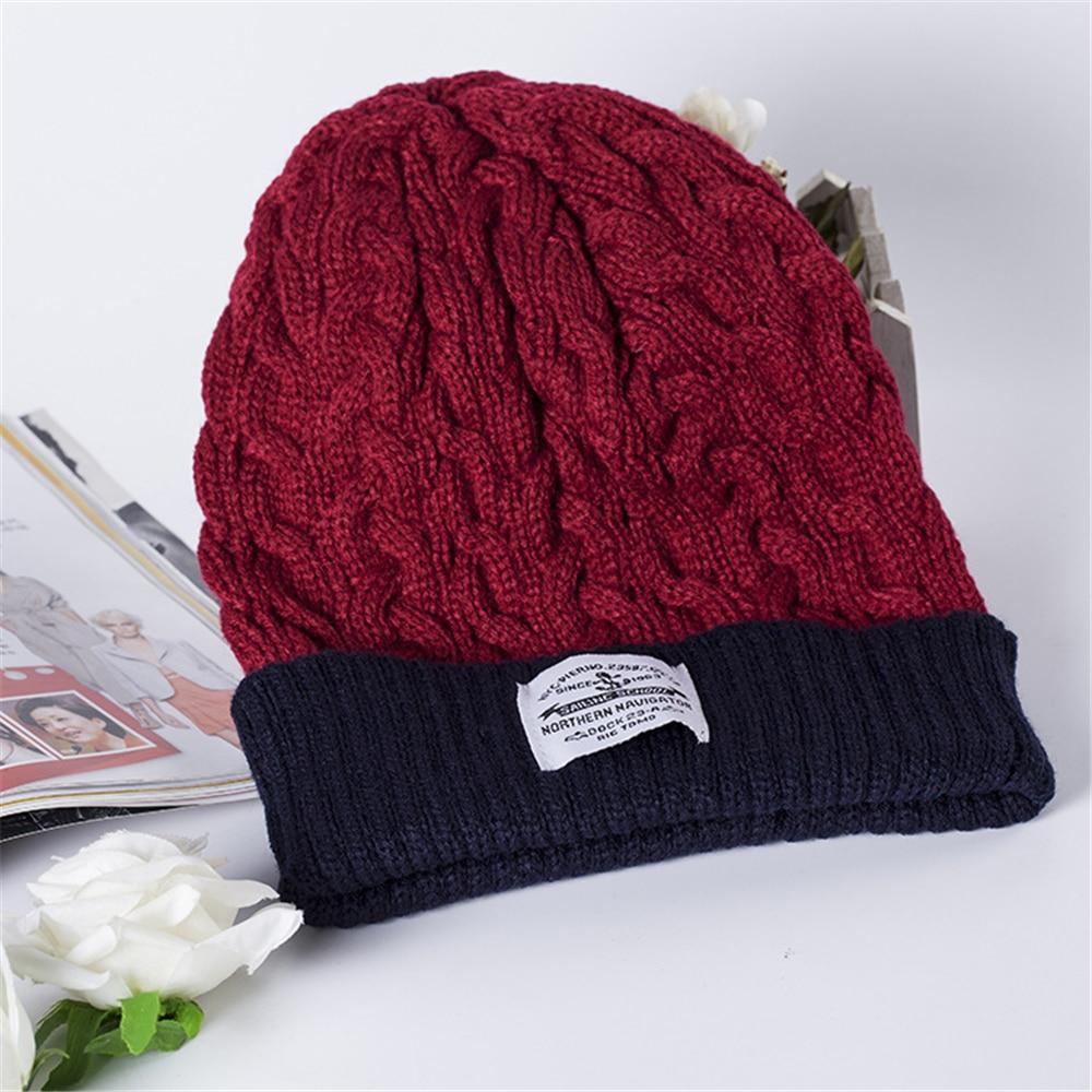 Fashion Cap Men Casual Hip-Hop Hats Knitted Skullies Beanie Hat Warm Winter Hat For Women skullies