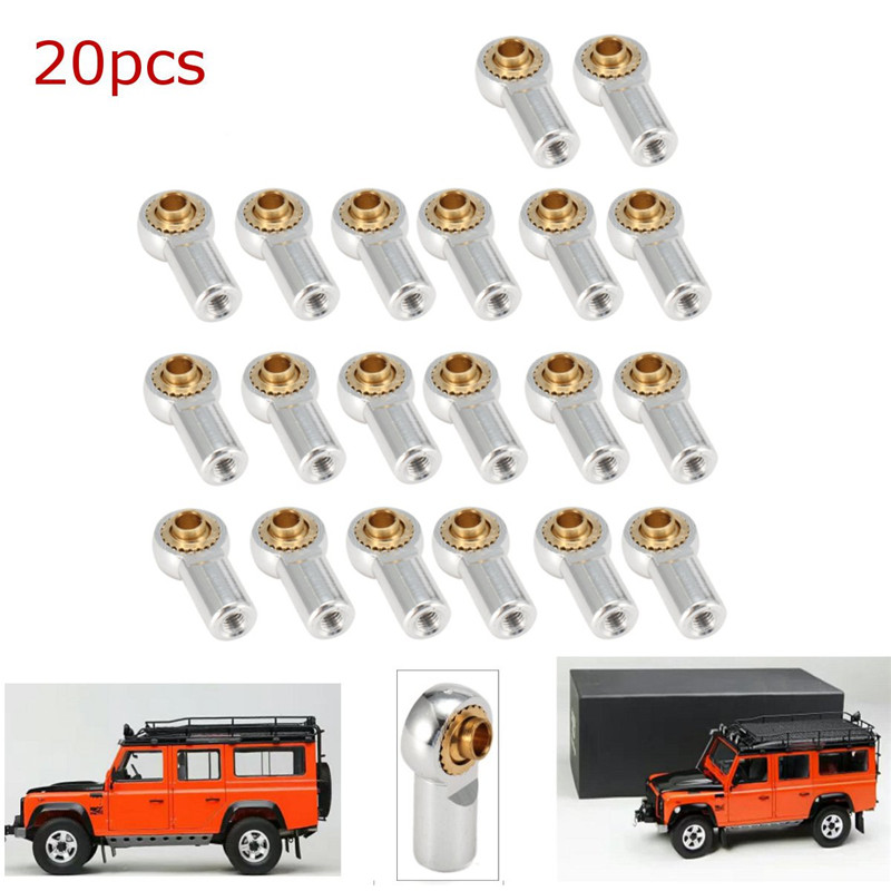 20pcs Aluminum M3 Link Rod End Ball Joint CW CCW for 1 10 RC Car Crawler Buggy