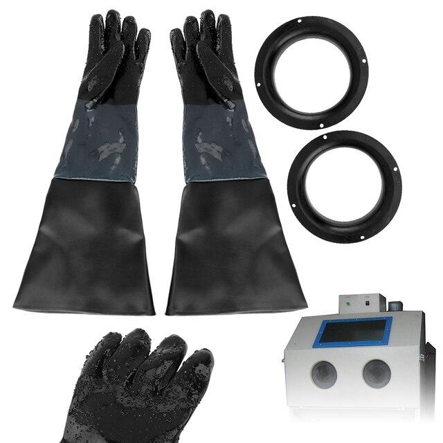 1 paio di guanti per sabbiatura 60cm guanti protettivi per sabbiatura per lavori pesanti per mobile per sabbiatura con supporto per guanti BORUIT Boutique Store