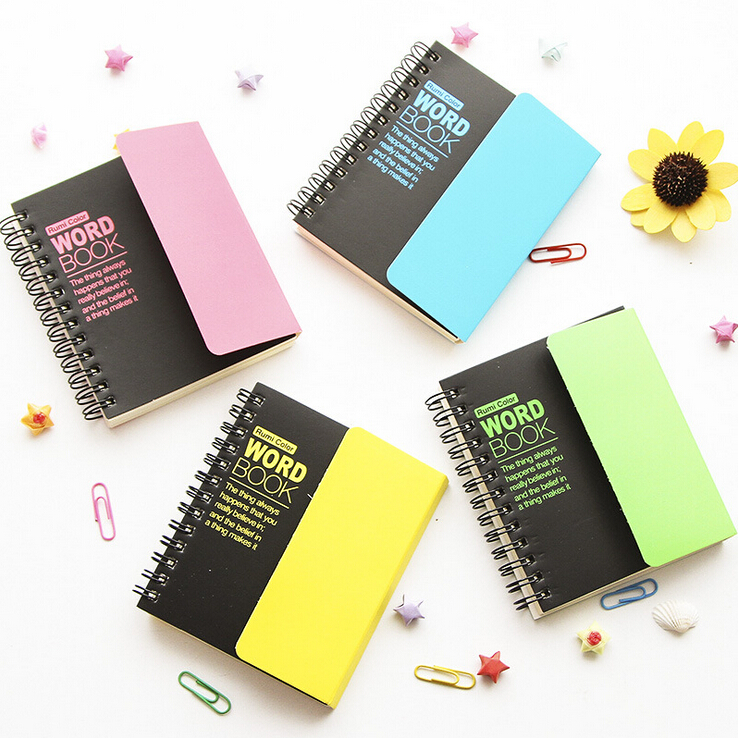 US $5 88 |1 pcs Korean Stationey Creative Language Study Vocabulary Word  Book,Portable Spiral School Notebook Small Writing Note Books-in Notebooks