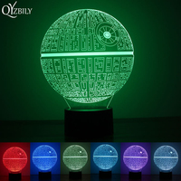 Modern Table Lamp Abajur Star Wars Death Star LED 3D Desk Lamp Night Light Novelty Touch