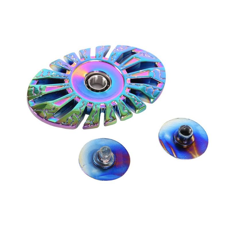 regenboog Funny Spinner Fidget Toy Metal EDC Tri Hand Spinner Finger Spin Made Focus Colorful handspinner Stress Fidget Toy