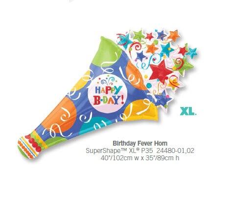 2pcs lot anagram giant birthday fever horn foil balloons happy
