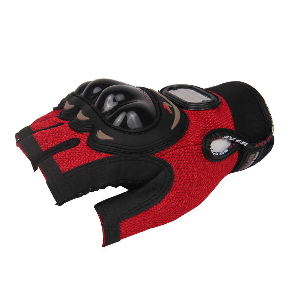 プロバイカーオートバイハーフフィンガー夏の手袋グローブオートバイ男性レッド ML XL XXL が利用可能ショート屋外オフロード手袋