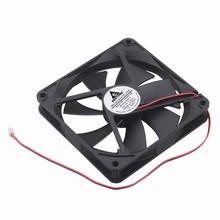 цена на Blade Sleeve-Bearing DC 2V 2Pin Black Brushless Cooler Cooling Fan for computer CPU 140X140X25mm New 2 Wire