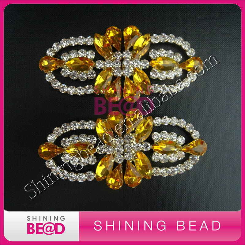 Golden Crystal Rhinestone Clasp Buckle For Box Decorwedding