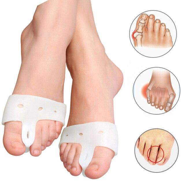 1 пара = 2 шт Подлинная новая специальная защита от вальгусной деформации для езды на велосипеде ортопедические брекеты корректор для пальцев ног ежедневный силиконовый палец на ноге большая кость Bunion
