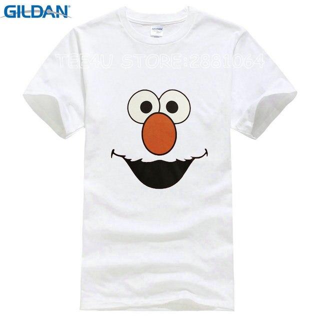 5de714065 2017 Limited Special Offer Fashion Broadcloth Tee4u Shirt Tee Graphic  O-neck Sesame Street Elmo Face Short-sleeve Mens T Shirts