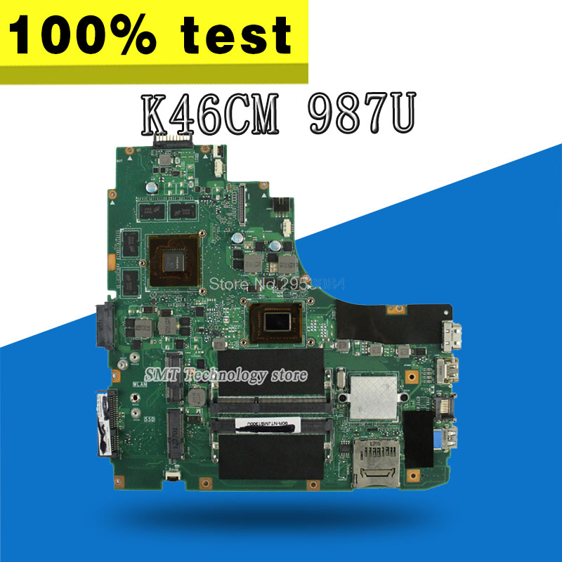 For ASUS K46C <font><b>K46CM</b></font> K46CB S46C A46C 987 /1007 cpu GT630M 2GB motherboard GeForce Well tested image