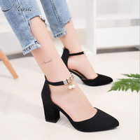 Mhysa 2018 New Summer Women Shoes Pointed Toe Pumps Dress Shoes High Heels Boat Shoes Wedding