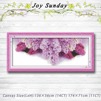 Floral language of lilac purple decor Patterns Counted Cross Stitch 11CT 14CT Cross Stitch Sets Handmade Embroidery Needlework