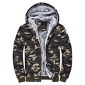 Winter Coat Men 2017 plus sizd cashmere sweater wholesale thick men's casual loose hooded Camouflage Jacket warm fashion coat