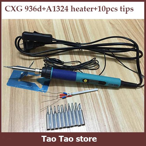 cxg 936d digital lcd electric soldering iron adjustable temperature electric. Black Bedroom Furniture Sets. Home Design Ideas