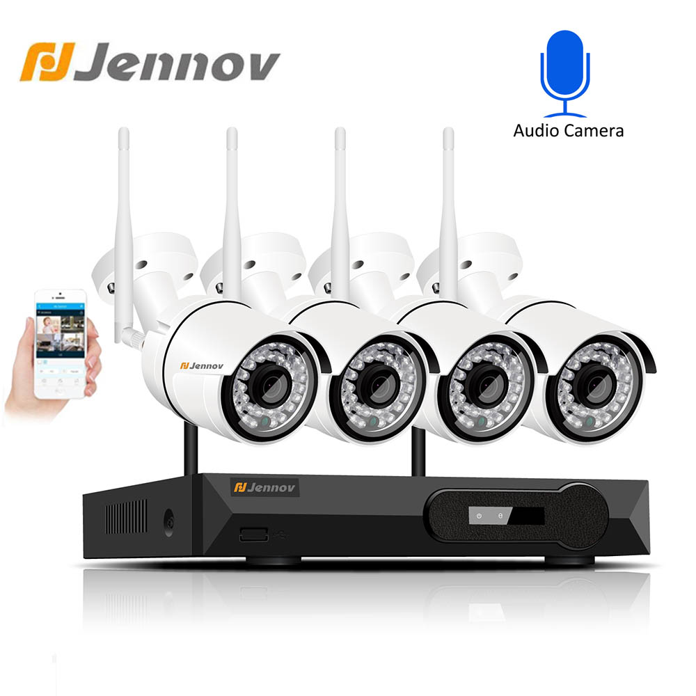Jennov H 265 5 0MP 4CH CCTV System Security Camera System Video Surveillance Wireless NVR IP