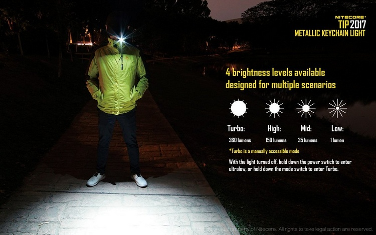 1pc best price Mini NITECORE TIP CU Metal Flashlight LED Button light Clip multi purpose camping outdoor daily EDC rechargeable in Flashlights Torches from Lights Lighting