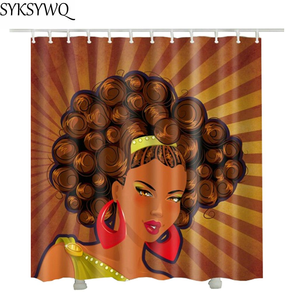 African Women Harvest Shower Curtain Natural 2018 Hot Sale Drop Shipping Bathroom Curtains In From Home Garden On Aliexpress