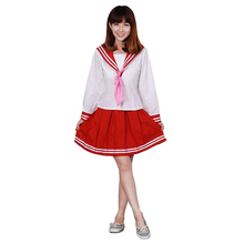 Lucky Star Cosplay Izumi Konata Womens Dress School Uniforms Sailor Suits Costume