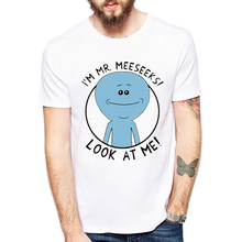Rick and Morty Style t-shirt Mr.Meeseeks Rick and Morty comfortable Printed Tee T-Shirt Hot Tops t shirt