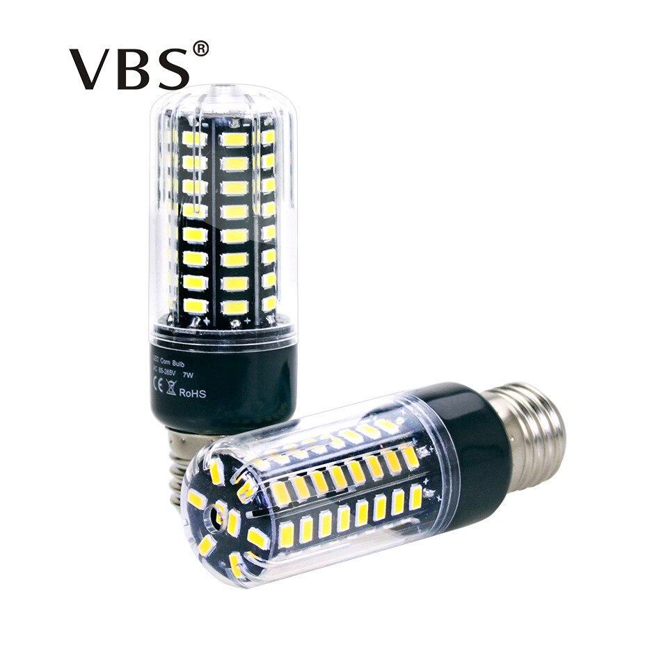 LED Bulb 5736 SMD More Bright 5730 LED Corn Lamp Bulb Light 3.5W 5W 7W 8W 12W 15W E27 E14 85V-265V No Flicker Cold/Warm White