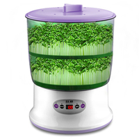 Hot Sale Intelligence Bean Sprouts Machine Upgrade Large Capacity Thermostat Green Seed Grow Automatic Bean Sprout