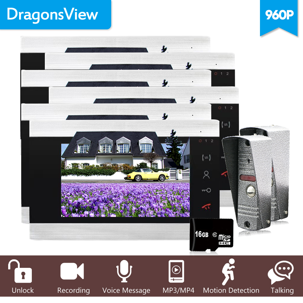 Dragonsview 7 Wired Video Intercom Video Doorbell With IR-CUT Outdoor Camera 960P Visual Intercom Remote Unlock Video DoorPhoneDragonsview 7 Wired Video Intercom Video Doorbell With IR-CUT Outdoor Camera 960P Visual Intercom Remote Unlock Video DoorPhone