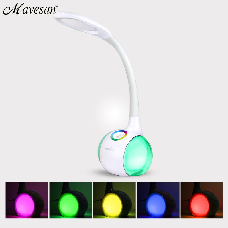 LED Table lamp Eye Protection with dimmer base Reading Table Lamp Adjustable Night Light for kids